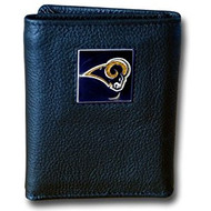 NFL St Louis Rams Genuine Leather Tri-fold Wallet
