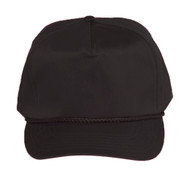 Cotton Twill Golf Cap - Black