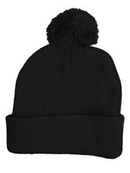 City Compton Los Angeles Beanie Blackout with Pom