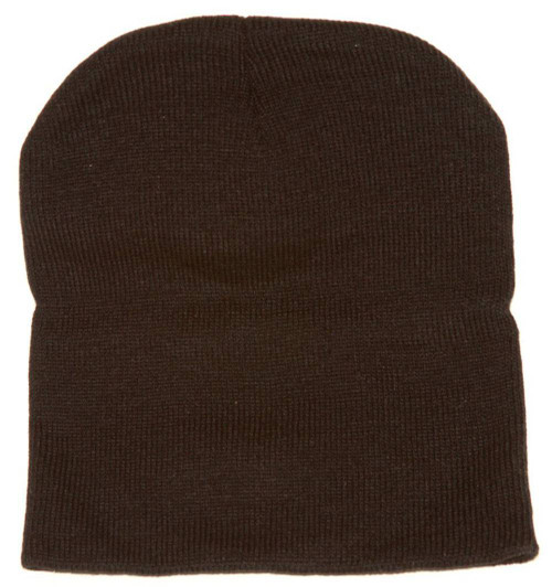 Magic 8 Ball Patched Black Cuffless Knit Beanie