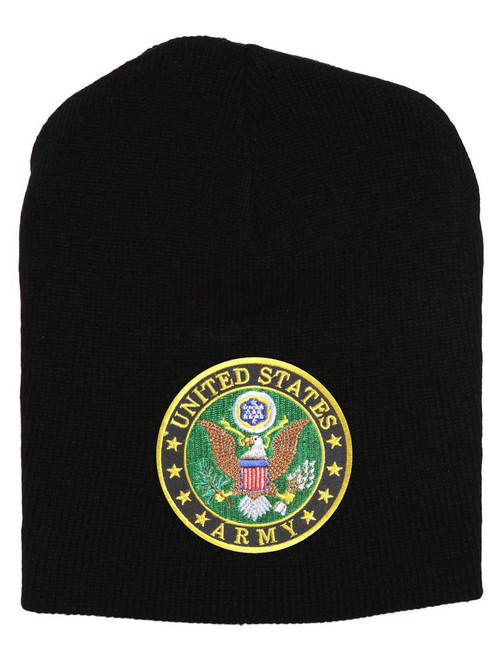 United States Army Seal Black Short Beanie