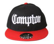 Academy Compton Snapback Hat Black / Red