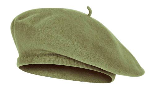 Top Headwear Wool Blend French Bohemian Beret, Sage