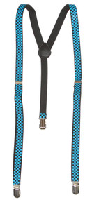 Checkered 3 Clip Stretchable Suspenders 2 pack