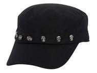 Skull Pins Black Cadet Cap