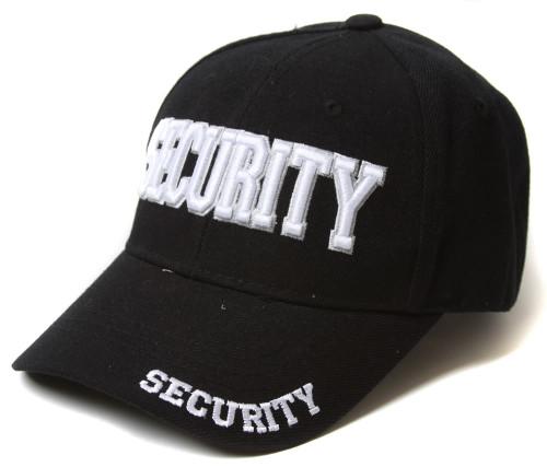 Security Adjustable Strap Hat - Black