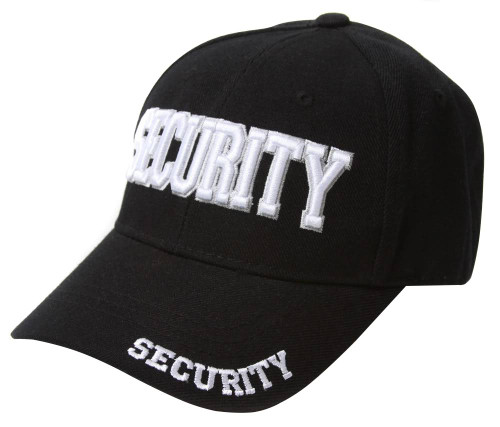 Black  Security Text Style Hat