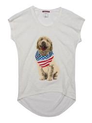 Back Drop Linen USA Puppy Women's T-Shirt