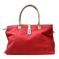 Oversized Tosca Tote Handbag - Red