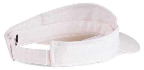 Plain Single Sports Visor- White