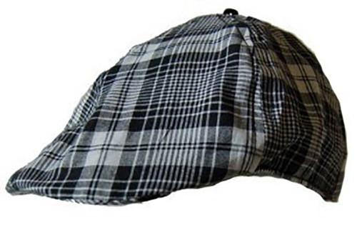 Cotton Unisex Plaid Gatsby Driver Ivy Cap by DCI