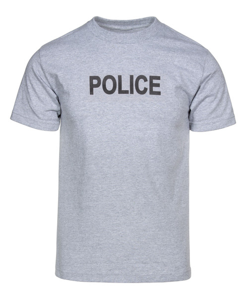 New Grey Police T-Shirt