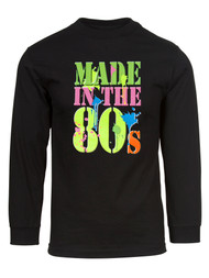 Mens Generation X Made in the 80's Neon Long-Sleeve T-Shirt