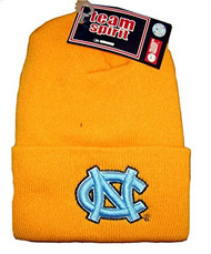 NCAA Beanie North Carolina Tar Heels, Light Blue Logo