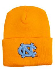 North Carolina Tarheels Gold Beanie - Light Blue Logo
