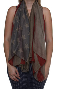American Flag USA Flag Scarf, Army Green (2 pack)