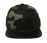 TopHeadwear California Republic Bear Snapback w/ Quilted Bill