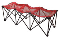 Sweat Pro Bench - 3 Seat Folding Sports Bench - Red