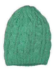 Thick Knitted Cuffless Beanie, Teal