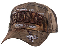 Top Headwear Outdoor Born to Hunt Forced to Work Baseball Cap
