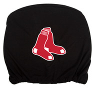 Embroidered Sports Logo 2 Pack Headrest Cover MLB, Boston Redsox