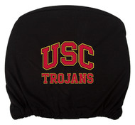 Embroidered Sports Logo 2 Pack Headrest Cover NCAA, USC Trojans