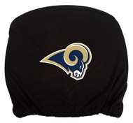 Embroidered Sports Logo 2 Pack Headrest Cover NFL, Los Angeles Rams