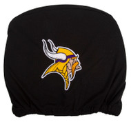 Embroidered Sports Logo 2 Pack Headrest Cover NFL, Minnesota Vikings