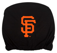 Embroidered Sports Logo 2 Pack Headrest Cover MLB, San Francisco Giants