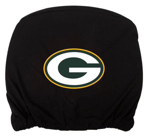 Embroidered Sports Logo 2 Pack Headrest Cover NFL, Greenbay Packers