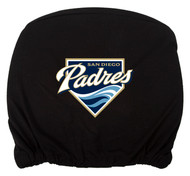Embroidered Sports Logo 2 Pack Headrest Cover MLB, San Diego Padres