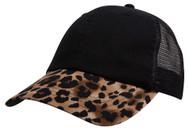 Top Headwear Fashion Animal Print Bill Trucker Cap