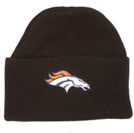 NFL Denver Broncos Logo Embroidered Black Cuff Knit Beanie