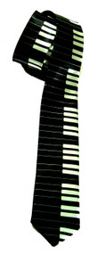 "2"" Inch Piano Keyboard Necktie - (2 Different Colors)"
