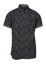 Gravity Threads Black Out Floral Dress Shirt
