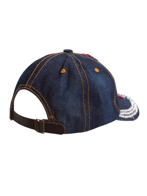 Top Headwear Studded Pink Ribbon Baseball Cap