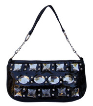 Small Bejeweled Hobo Handbag Purse