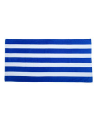 Carmel Towel Company Cabana Stripe Velour Beach Towel