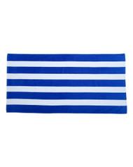 Carmel Towel Company Cabana Stripe Velour Beach Towel