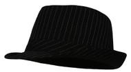 Pinstripe Fedora Hat (Small/Medium - Large/X-Large)