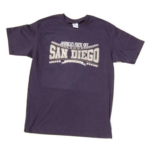 America's Finest City San Diego T-Shirt - Navy Blue, M