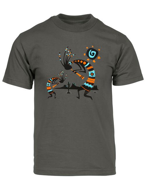 Mens Tribal Brown Bear Short-Sleeve T-Shirt