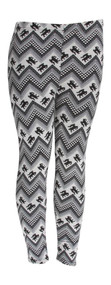 Contemporary Edge Snow Tribal Inner Faux Fur Leggings