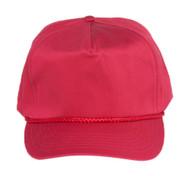 Cotton Twill Golf Cap - Maroon