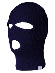 Navy Three Holed Ski Mask