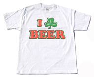 I Love Beer Cotton T-Shirt- White