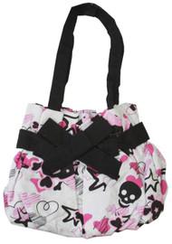 Skulls and Hearts Punk Small Hand Bag - White