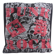 Clover Black Red White Punk Rock Tote Bag