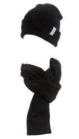 Gravity Threads Micro Fleece Scarf + Cuffed Beanie Winter Kit