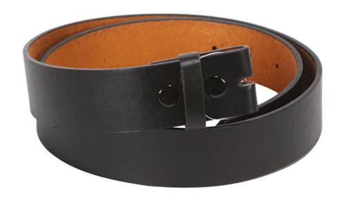 New Mens / Womens Genuine Leather Belt For Belt Buckles - Black (4 Sizes)